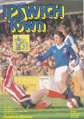 Ipswich Town V Charlton Athletic Fa Cup 14/2/81