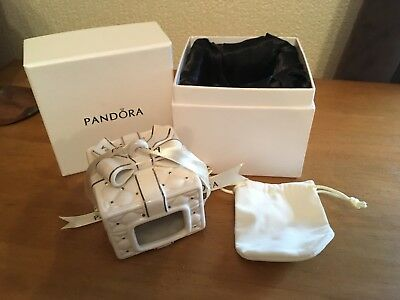 Pandora Ring / charm porcelain trinket box with charm bag - boxed - brand new