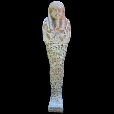 EGYPTIAN HIEROGLYPHIC SHABTI, LATE PERIOD 664 - 332 BC LARGE! OVER 17cm Tall (3)