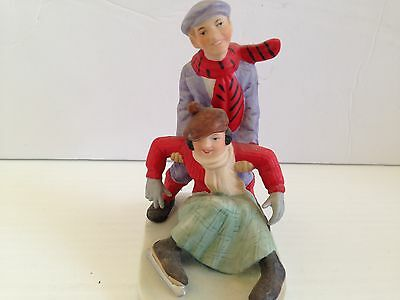 "Norman Rockwell Danbury Mint Figurine...."" Skaters  """