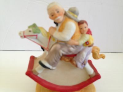 "Norman Rockwell Danbury Mint Figurine...."" Gramps In The Reins  """