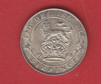 Great Britain 6 Pence 1918 Silver