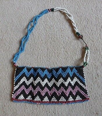 Good Old Antique South African Zulu Xhosa Beadwork Panel Love Letter Necklace Nr