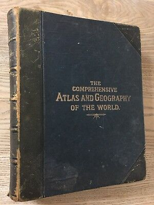 1884 Blackie's Comprehensive World Atlas & Geography 67 Maps, 10 Costumes