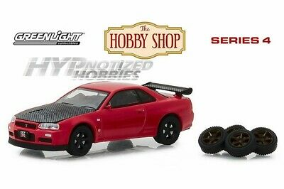 Greenlight 1:64 2002 Nissan Skyline Gt-R R34 With Spare Tires Red 97040-E