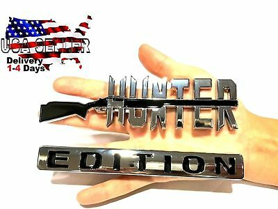 HUNTER EDITION Emblem INTERNATIONAL HARVESTER TRUCK logo DECAL sign Bumper Badge