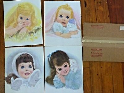 Vintage Lot Of 4 Northern Tissue Prints By Frances Hook With Original Mailer