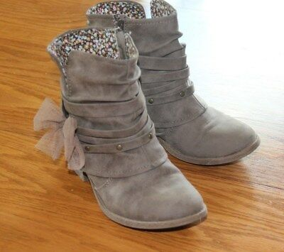 Mudd Girls' Bow Ankle Boots size 2 med
