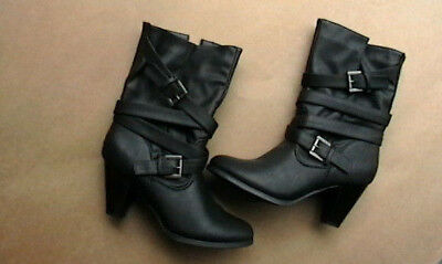 Vybe Black Jenny Mae  Boots Size 8 Woman's Heel