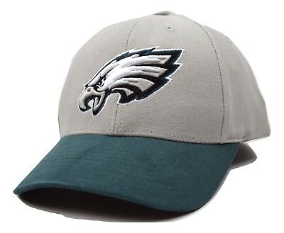 Philadelphia Eagles NFL Team Apparel Gray & Green Adjustable Football Cap Hat