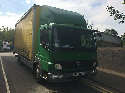 Mercedes Atego 816 Curtainsider with tail lift