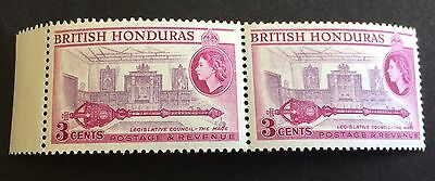 2 wonderful mint stamps together 3 Cents British Honduras 1953