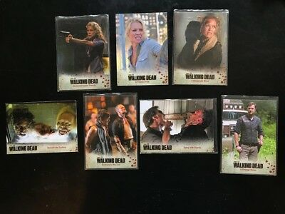The Walking Dead 2014 Cryptozoic 7 Card Lot Great Condition