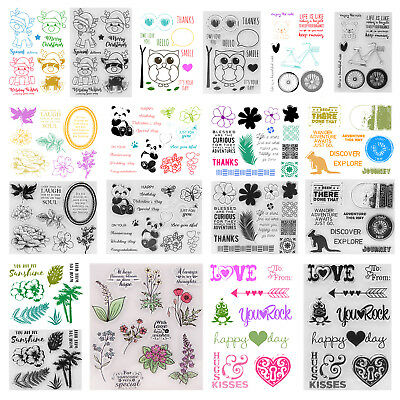 Transparent Clear Silicone Rubber Stamp Cling Diary Scrapbooking DIY Card Decor