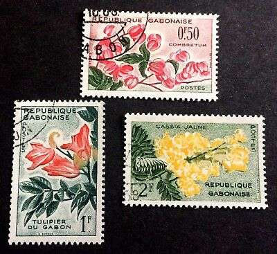 3 wonderful old stamps Gabon