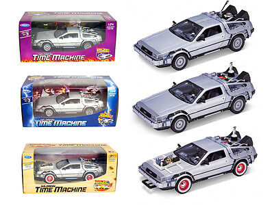 Three Piece Set Delorean Time Machine Trilogy Set - 3PCSET