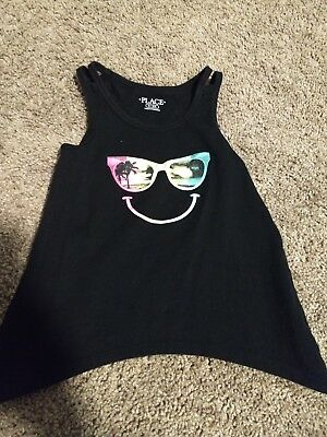 Children's Place Girls Top Size 5/6 Black