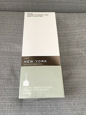 Brand New And Sealed Next 400ml New York Luxury Reed Diffuser