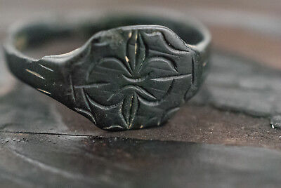 Medieval Ring Bronze Antique Ring c.15th-16th Century AD