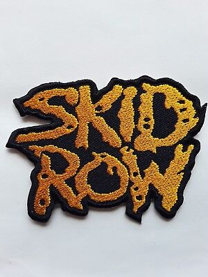 Skid Row American Heavy Metal Rock Music Band Embroidered Patch Uk Seller