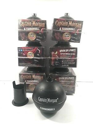 Lot of 6 NEW Captain Morgan Cannonball Plastic Cups Rum New Need Cleaned