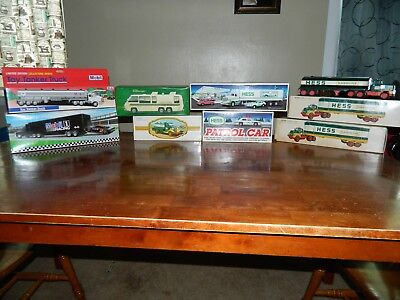 1970's Hess toy trucks and Mobil Toy trucks mint condition