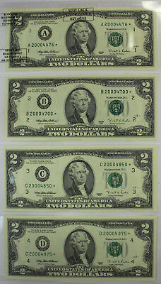 1995 Series $2 Star Note District Set of 11 Missing One Kansas