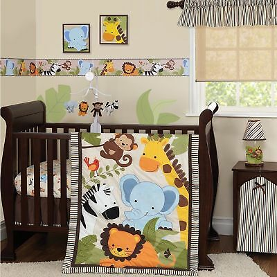 LAMBS &  IVY Bedtime Originals Baby JUNGLE BUDDIES Wallpaper Border 15' X 6""