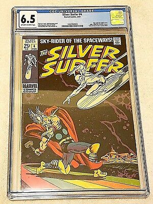 Silver Surfer #4 CGC 6.5 FN+ Marvel 1969 Classic Silver Age Surfer vs Thor Cover