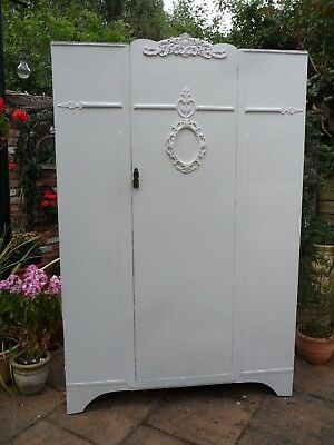 Grand Vintage Painted Double Wardrobe Lovely Laura Ashley Interior Shabby Chic