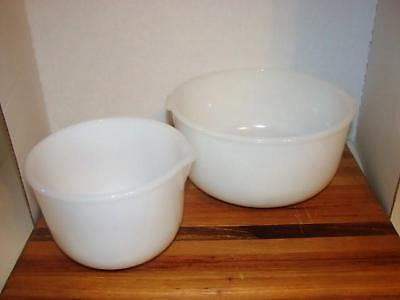 Sunbeam~Glasbake Mixing Bowls by Jeannette~Vintage Milk Glass~Made for Sunbeam~