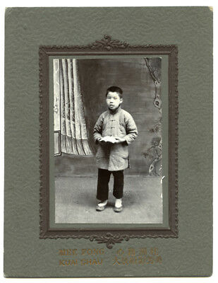 Vintage Early 20th Century Photograph of a Chinese Bind Boy, Canton