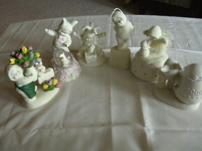 Lot of 6 Snowbabies Figurines 1 Musical see pictures no box