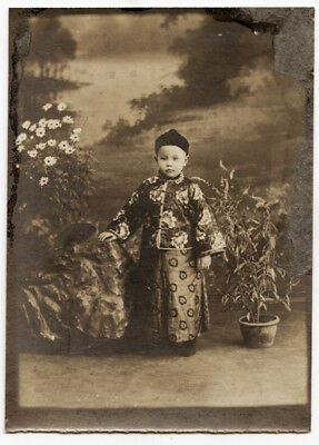 Vintage Early 20th Century Photograph of a Small Chinese  Boy