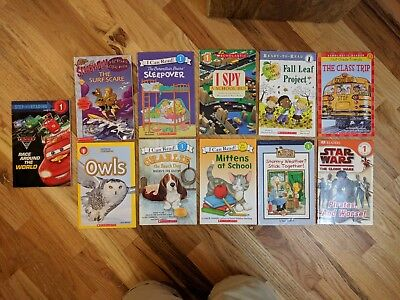 Lot of 11 Level 1 Books, scholastic, ready-to-read, DK, Reading Discovery