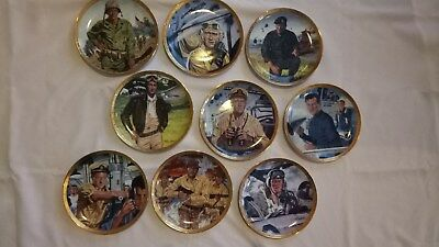 The Franklin Mint Collection - John Wayne  9 x Plates dispaly in Good Condition