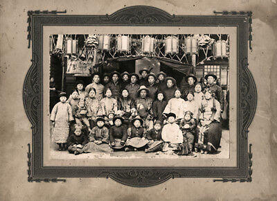 Vintage Early 20th Century Photograph of Chinese Family Group