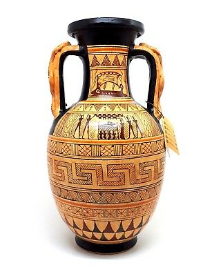 Achilles Ajax Exekias Ancient Greek Amphora Vase Museum Replica
