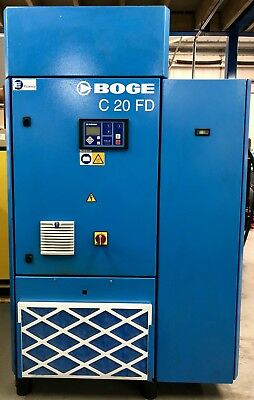 Boge C20FD Variable Speed Rotary Screw Compressor With Dryer! 17 - 90Cfm! 15Kw!