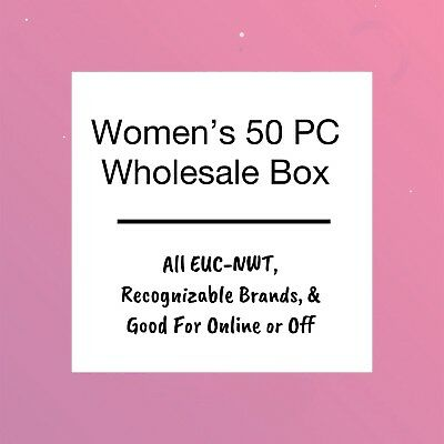 50 Pc Wholesale Box Womens Tops Size Small EUC NWT Perfect For Individual Resell