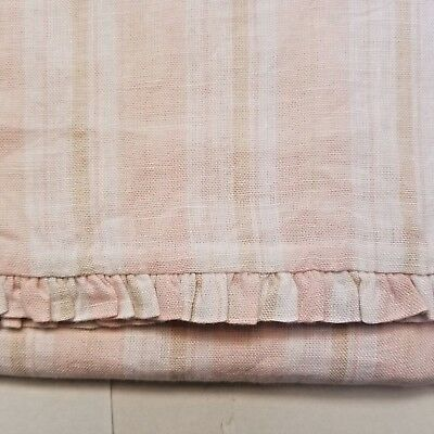 Pink Striped Linen Crib Duvet Cover Pom Pom at Home Mystic by Hilde Leiaghat NIP
