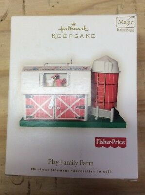 Play Family Farm FISHER PRICE 2008 Hallmark Keepsake Christmas Ornament