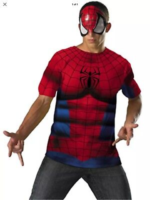 The Amazing Spider-Man Spiderman T-Shirt And Mask Costume Men's XL 42-46