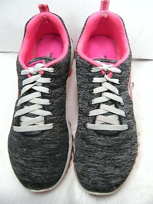 Womens Skechers Light Weight Dry Foam Athletic Shoes BlackTeal Sz 8.5