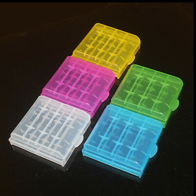 Plastic Case Holder Storage Box Cover for Rechargeable AA AAA Batteries  5pcs