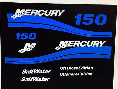 MERCURY 150 OFFSHORE OUTBOARD DECAL KIT message for 175 - 250 USA free ship