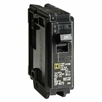 Square D by Schneider Electric HOM120CP Homeline 20 Amp Single-Pole Circuit...