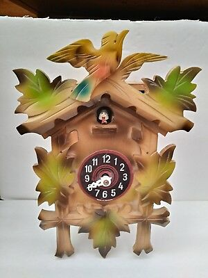 Germany Cuckoo Clock for Parts, Restoration, UNTESTED No weights or chains