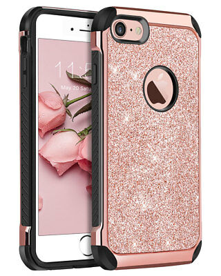 Bright Glitter Shockproof Hard Shell Phone Case Cover For iphone Xs Max 8 plus