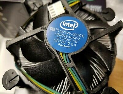 Intel CPU COOLING FAN HEATSINK i3 i5 i7 Socket 1150 1155 1156 E97379-003 65W TDP